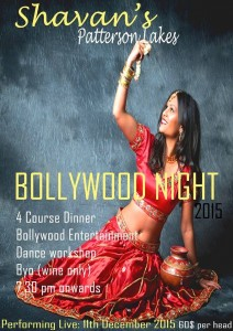 Bollywood nite 11dec